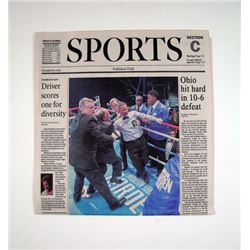 Southpaw Sports Newspaper Movie Props