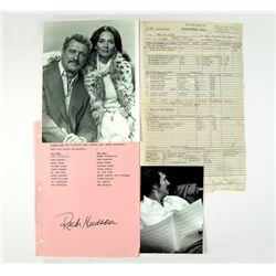 Rock Hudson Call Sheet & Photo