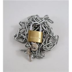 Now You See Me Chain Links & Lock Movie Props