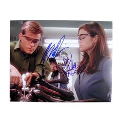 Starship Troopers Denise Richards/Casper Van Dien Signed Production Photo