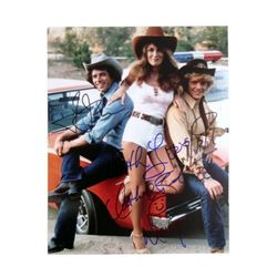 Dukes Of Hazzard Catherine Bach/John Schneider/Tom Wopat Signed Photo