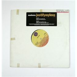 "Madonna ""Justify My Love"" Remixes Promotional 33rpm LP"