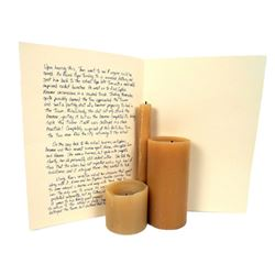 Falling Skies Hero Candles and Written Account of 2nd Mass History Movie Props
