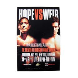 Southpaw Hope vs. Weir Poster Movie Props