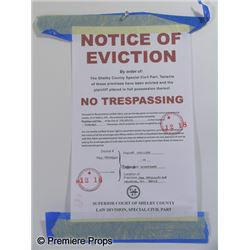 The Blind Side Eviction Notice Movie Props