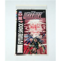 New Warriors Marvel Comic Book Cover 4-Color Proofs #71
