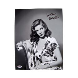 Lauren Bacall Signed Glamour Photo