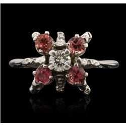 14KT White Gold 0.35ct Pink Sapphire and Diamond Ring GB4743