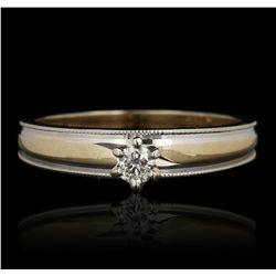 14KT Yellow Gold 0.15ct Diamond Solitaire Ring GB3358