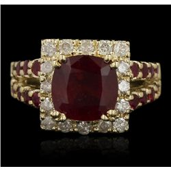 14KT Yellow Gold 4.77ctw Ruby and Diamond Ring RM1787