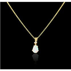 14KT Yellow Gold 0.01ctw Diamond Pendant With Chain GB3301