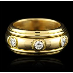 18KT Yellow Gold 0.90ctw Diamond Ring A4925