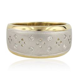 14KT Two-Tone Gold 0.15ctw Diamond Ring GB3170