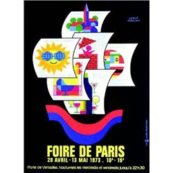 foire de paris 1973 morvan herve porte de versailles union graphique paris aff n e. Black Bedroom Furniture Sets. Home Design Ideas