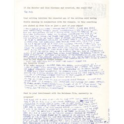 Rare Alan Moore Signed Handwritten Interview Questionnaire about Watchmen