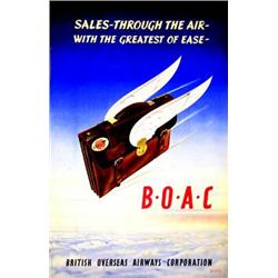 B.O.A.C  M.P.H. Sales - through the air - with the greatest of ease - British Overseas Airways Co...