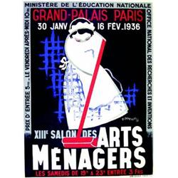 13e Salon des Arts Menagers - 1936     1935  D'ORNELLAS Grand Palais Paris. 30 janv. 16 fev. 1936...