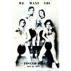 We want you   Insead ball, May 20 1972.      Aff. N.E.    B.E.  B + 230/380 € 42 x 29,5 cm 15...