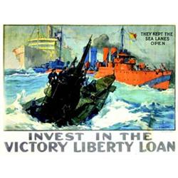 Invest in the victory liberty loan. SHAFER L.A. They kept the sea lanes open. THE W.F. POWERS CO....