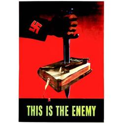 This is the enemy   Holy Bible - (Tres rare affiche americaine anti nazie )     U.S. Government P...