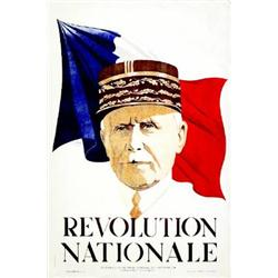 Revolution Nationale (Portrait de Petain)     1940 Ill : NOYER PH. H.      Imp :   J. Le Henaff...