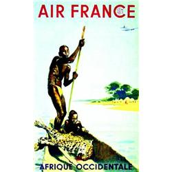 Air France Afrique Occidentale.  BRENET  A.      Perceval   Paris Aff. N.E.    B.E.  B -  Dechir...
