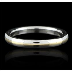 Platinum and 18KT Yellow Gold Wedding Band Ring GB2666