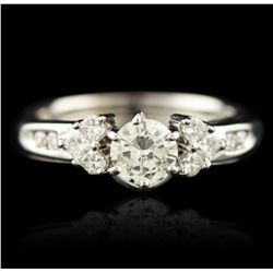 14KT White Gold 1.07ctw Diamond Ring A4986