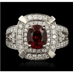 14KT White Gold 2.67ct Spinel and Diamond Ring A7215