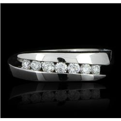 14KT White Gold 0.30ctw Diamond Ring GB2451