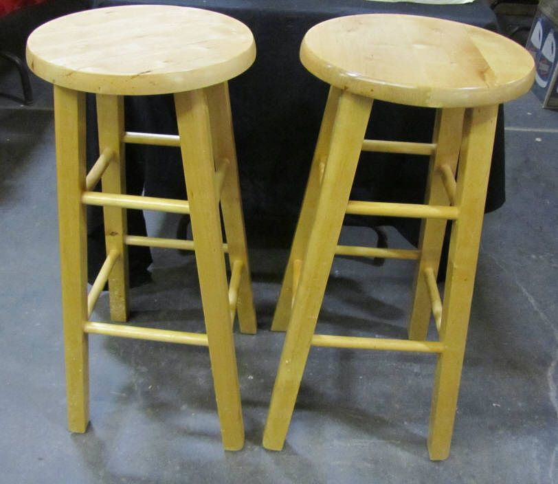 Pair Of Oak Bar Stools
