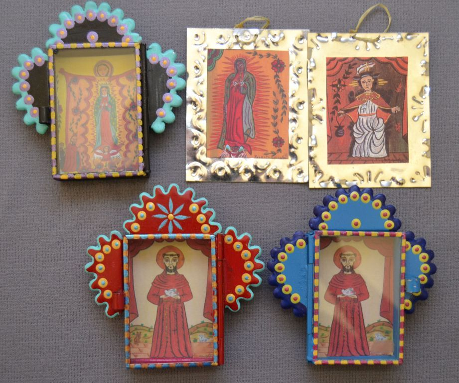FIVE MEXICAN TIN FRAMES AND SHADOWBOXES