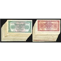 Nationale Bank Van Belgie,5, 10 Francs. Large group of each.