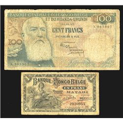 Banque Congo Belge, Group of 2 notes
