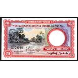 West African Currency Board, 1953 High Grade Banknote.