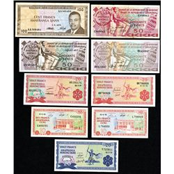 Banque De La Republique Du Burundi, 1968 to 2010 Issues.
