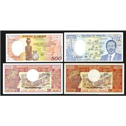 Banque Des Etats De L'Afrique Centrale, Lot of 4 Issued Notes