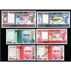Banco De Cabo Verde, 1977 and 1999-2000 Issues.