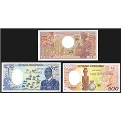 Banque Des Etats De L'Afrique Centrale, Trio of Issued Notes