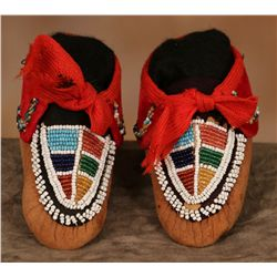 Iroquois Child's Beaded Moccasins