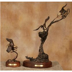 Harvey Rattey, two bronzes