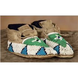 Sioux Childs Beaded Moccasins