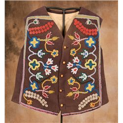 Arikara/Assiniboine Beaded Vest