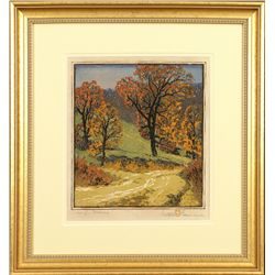 Gustave Baumann, color woodblock