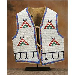 Sioux Child's Beaded Vest