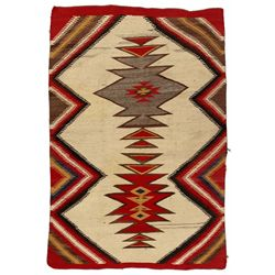 "Navajo Double Saddle Blanket, 4'7"" x 3'2"""