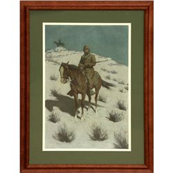 Frederic Remington, lithograph