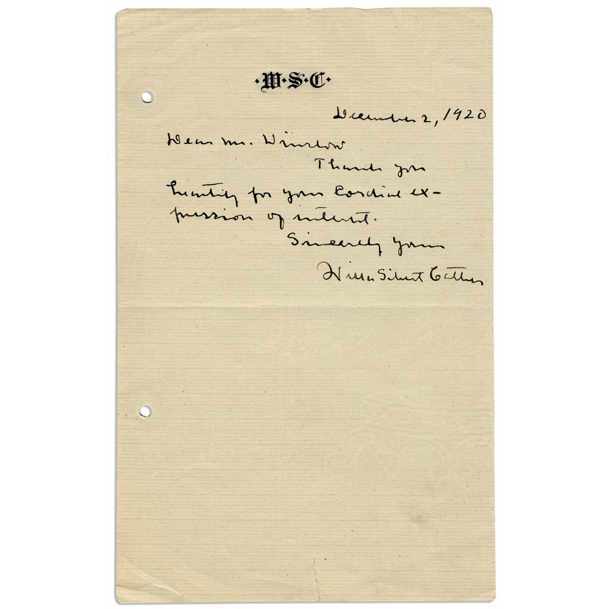 Pulitzer PrizeWinning Author Willa Cather Autograph Letter Signed – Prize Winner Letter Template