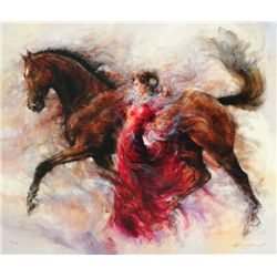 Gary Benfield, Mercedes Storm, Signed Canvas Print