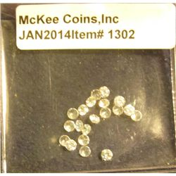1302. Approximately Four Carats of Cubic Zirconium. All approximately 20 point Stones.